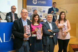 Luis Rosendo Fernández (Vice Presidente de la Diputación de Ourense) con directores de calidad de CMEC