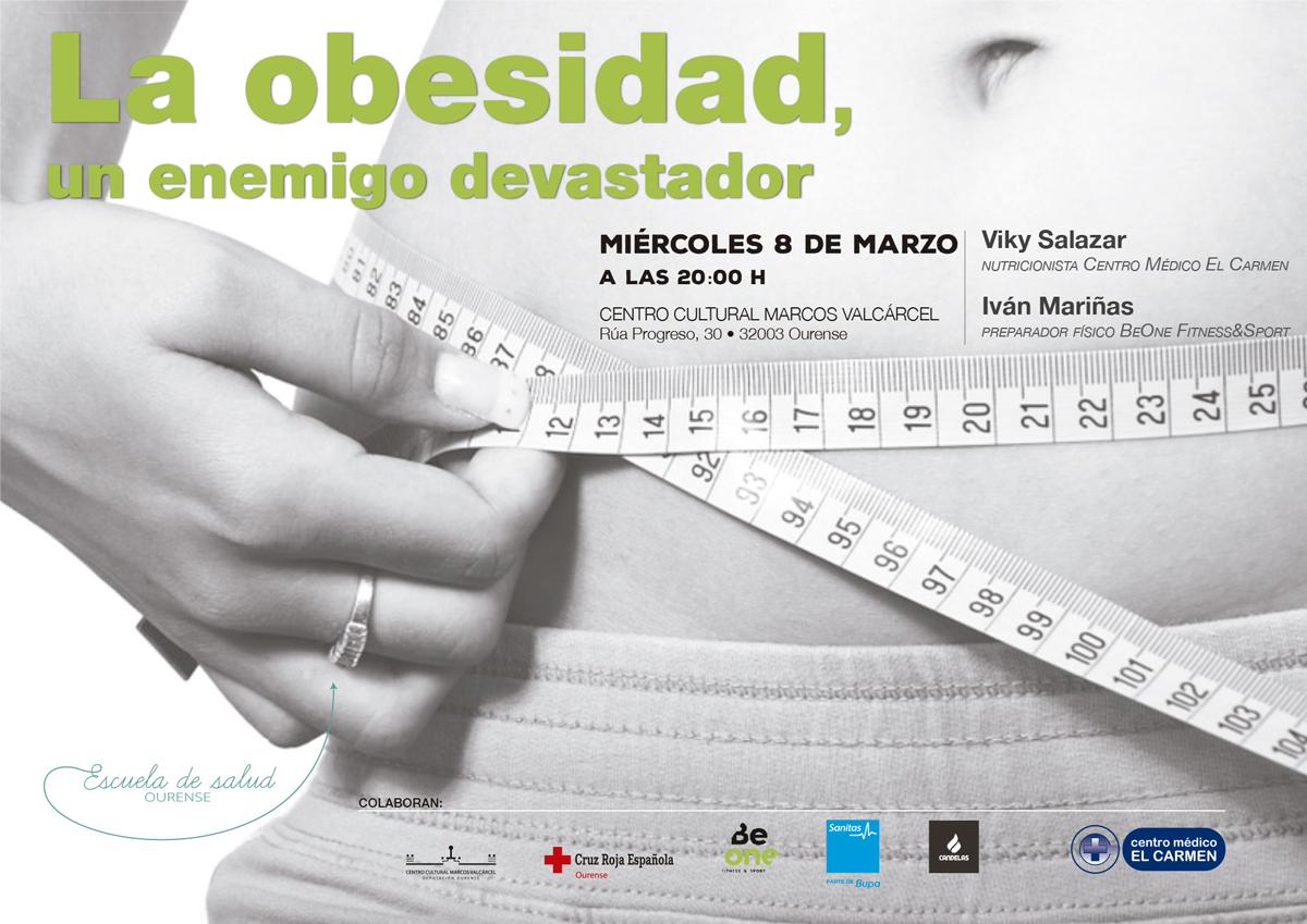 charla obesidad cartel